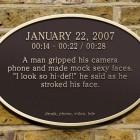 640 480, <em>Grand Gestures</em>, Bronze Plaque, 2007