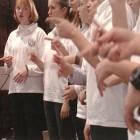 Artur Zmijewski, still from Singing Lesson 2, video, 2003.