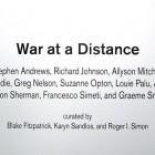 detail of wall text, <em>War at a Distance</em>, 2009