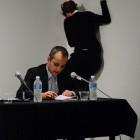 Guillaume Desanges, A History of Performance in Twenty Minutes, June 10, 2010, performance-lecture, Guillaume Desanges with Hélène Miesel