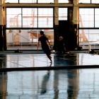 Tacita Dean, still from <em>Craneway Event</em>, 16mm colour anamorphic film, 108 minutes, 2008. Image courtesy of Marian Goodman Gallery, New York