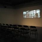 Tacita Dean, installation view of <em>Craneway Event</em>, 16mm colour anamorphic film, 108 minutes, 2008.