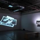 Eric Baudelaire, <em>The Makes</em> (left), <em>The Makes (Out of Desperation)</em> (right), installation view