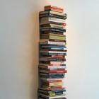 Eric Baudelaire, <em>Not yet titled</em>, stacked books, sound recording, 2010