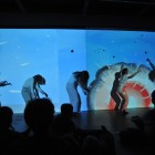 Zeesy Powers, TOTAL PANIC, November 12, 2010, Performance with animation and sound, documentation by Henry Chan