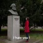 Rainer Ganahl, still from I Hate Karl Marx, video, 2010