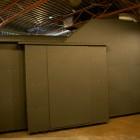 Lindsay Seers, installation view of <em>Extramission 6 (Black Maria)</em>, video installation, 2009