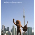 Jeff Thomas, <em> Welcome to Tkaronto, Ontario, from the series Postcards for Indians,</em> 2014