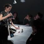 Alison S.M. Kobayashi, <em>Say Something Bunny!</em>, Performance documentation. Documentation: Henry Chan, 2016.