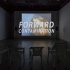 Kelly Jazvac, <em>Forward Contamination</em>, digital video, 2017, installation view. Documentation: Toni Hafkenscheid.